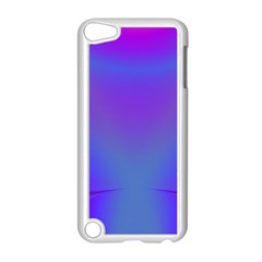 Violet Fractal Background Apple iPod Touch 5 Case (White)