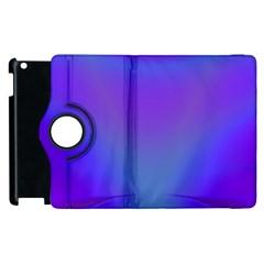 Violet Fractal Background Apple iPad 3/4 Flip 360 Case