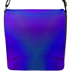 Violet Fractal Background Flap Messenger Bag (s)
