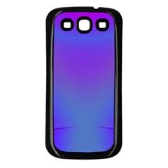 Violet Fractal Background Samsung Galaxy S3 Back Case (Black)