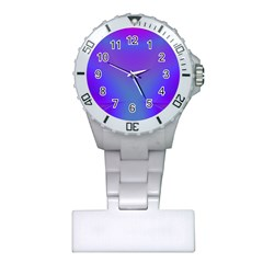 Violet Fractal Background Plastic Nurses Watch