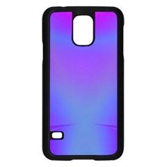 Violet Fractal Background Samsung Galaxy S5 Case (black)