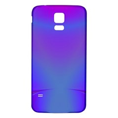Violet Fractal Background Samsung Galaxy S5 Back Case (White)