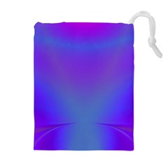Violet Fractal Background Drawstring Pouches (extra Large)