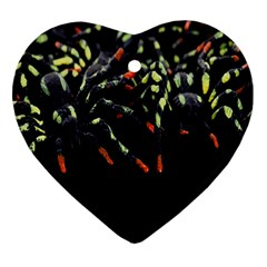 Colorful Spiders For Your Dark Halloween Projects Ornament (heart)