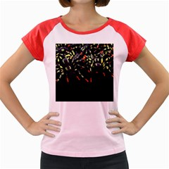 Colorful Spiders For Your Dark Halloween Projects Women s Cap Sleeve T Shirt