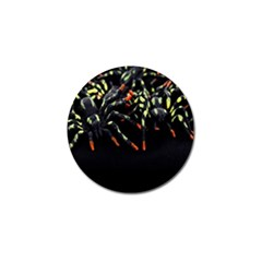 Colorful Spiders For Your Dark Halloween Projects Golf Ball Marker (4 Pack)