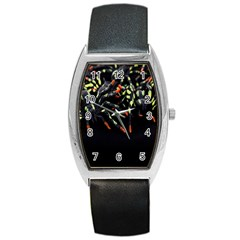 Colorful Spiders For Your Dark Halloween Projects Barrel Style Metal Watch