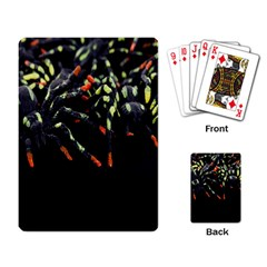 Colorful Spiders For Your Dark Halloween Projects Playing Card