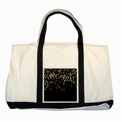 Colorful Spiders For Your Dark Halloween Projects Two Tone Tote Bag