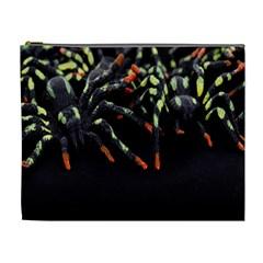 Colorful Spiders For Your Dark Halloween Projects Cosmetic Bag (xl)