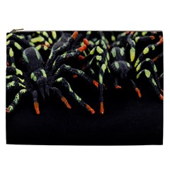 Colorful Spiders For Your Dark Halloween Projects Cosmetic Bag (XXL)