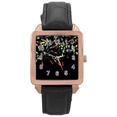 Colorful Spiders For Your Dark Halloween Projects Rose Gold Leather Watch