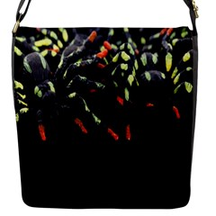 Colorful Spiders For Your Dark Halloween Projects Flap Messenger Bag (s)