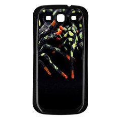 Colorful Spiders For Your Dark Halloween Projects Samsung Galaxy S3 Back Case (black)