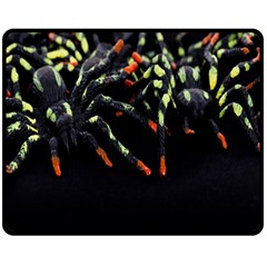 Colorful Spiders For Your Dark Halloween Projects Double Sided Fleece Blanket (Medium)