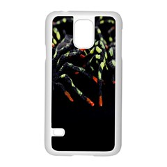 Colorful Spiders For Your Dark Halloween Projects Samsung Galaxy S5 Case (White)