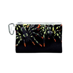 Colorful Spiders For Your Dark Halloween Projects Canvas Cosmetic Bag (S)