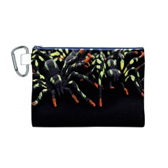 Colorful Spiders For Your Dark Halloween Projects Canvas Cosmetic Bag (M)