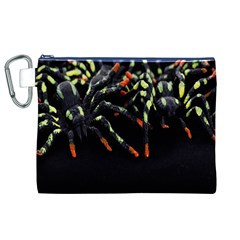 Colorful Spiders For Your Dark Halloween Projects Canvas Cosmetic Bag (xl)