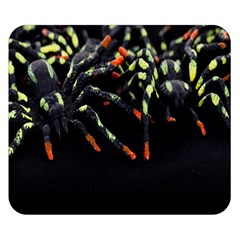 Colorful Spiders For Your Dark Halloween Projects Double Sided Flano Blanket (small)