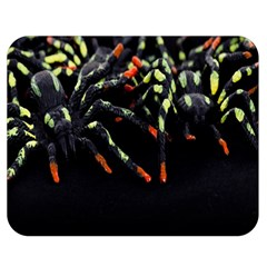 Colorful Spiders For Your Dark Halloween Projects Double Sided Flano Blanket (medium)