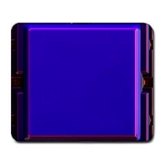 Blue Fractal Square Button Large Mousepads
