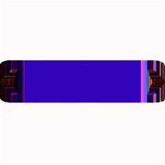 Blue Fractal Square Button Large Bar Mats