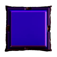 Blue Fractal Square Button Standard Cushion Case (two Sides)