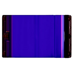 Blue Fractal Square Button Apple iPad 2 Flip Case