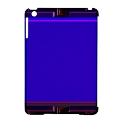Blue Fractal Square Button Apple iPad Mini Hardshell Case (Compatible with Smart Cover)