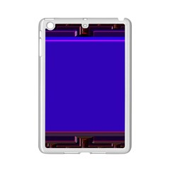 Blue Fractal Square Button iPad Mini 2 Enamel Coated Cases