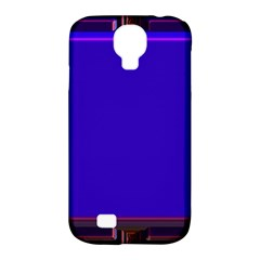 Blue Fractal Square Button Samsung Galaxy S4 Classic Hardshell Case (pc+silicone)