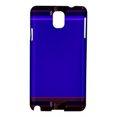 Blue Fractal Square Button Samsung Galaxy Note 3 N9005 Hardshell Case