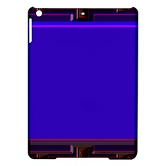Blue Fractal Square Button iPad Air Hardshell Cases