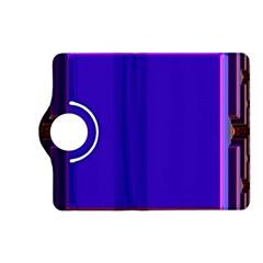 Blue Fractal Square Button Kindle Fire HD (2013) Flip 360 Case