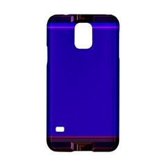 Blue Fractal Square Button Samsung Galaxy S5 Hardshell Case