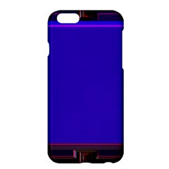 Blue Fractal Square Button Apple Iphone 6 Plus/6s Plus Hardshell Case