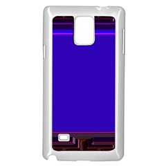 Blue Fractal Square Button Samsung Galaxy Note 4 Case (White)