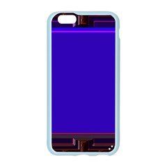 Blue Fractal Square Button Apple Seamless iPhone 6/6S Case (Color)