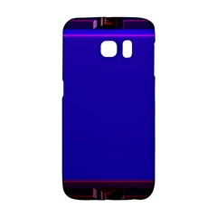 Blue Fractal Square Button Galaxy S6 Edge