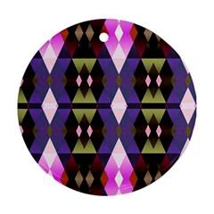 Geometric Abstract Background Art Ornament (round)