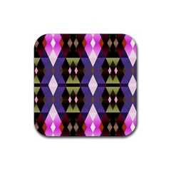 Geometric Abstract Background Art Rubber Square Coaster (4 pack)