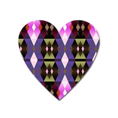 Geometric Abstract Background Art Heart Magnet