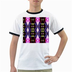 Geometric Abstract Background Art Ringer T Shirts