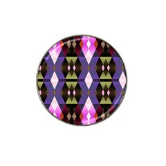 Geometric Abstract Background Art Hat Clip Ball Marker (10 Pack)
