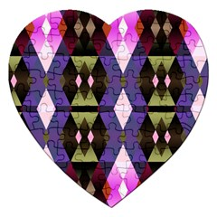 Geometric Abstract Background Art Jigsaw Puzzle (Heart)