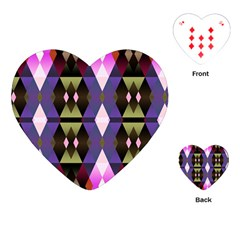 Geometric Abstract Background Art Playing Cards (Heart)
