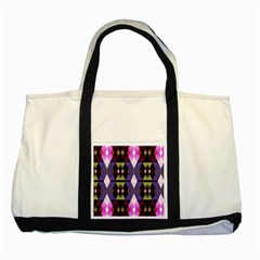 Geometric Abstract Background Art Two Tone Tote Bag