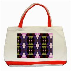 Geometric Abstract Background Art Classic Tote Bag (red)